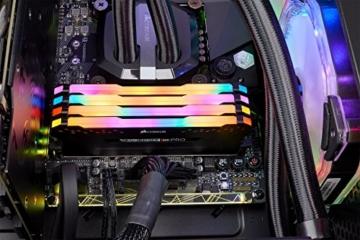 Corsair Vengeance RGB PRO 64GB (4x16GB) DDR4 3200MHz C16 XMP 2.0 Enthusiast RGB LED-Beleuchtung Speicherkit - schwarz - 8
