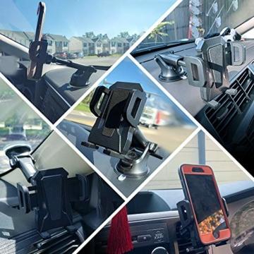 miracase MOVING LIFE Handyhalterung Auto, 3 in 1 KFZ Handy Halterung, mit Saugnapf Lüftung Handyhalter, 360° drehbare Autohalterung Silikon Schutz für iPhone, Samsung, Huawei, Sony, One Plus usw - 2