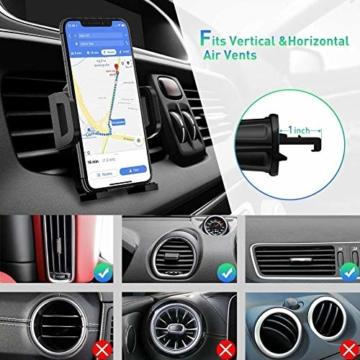 miracase MOVING LIFE Handyhalterung Auto, 3 in 1 KFZ Handy Halterung, mit Saugnapf Lüftung Handyhalter, 360° drehbare Autohalterung Silikon Schutz für iPhone, Samsung, Huawei, Sony, One Plus usw - 4
