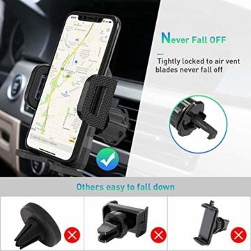 miracase MOVING LIFE Handyhalterung Auto, 3 in 1 KFZ Handy Halterung, mit Saugnapf Lüftung Handyhalter, 360° drehbare Autohalterung Silikon Schutz für iPhone, Samsung, Huawei, Sony, One Plus usw - 5