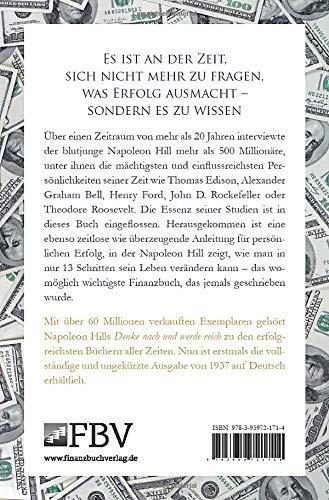 Think and Grow Rich – Deutsche Ausgabe: Die ungekürzte und unveränderte Originalausgabe von Denke nach und werde reich von 1937 - 3