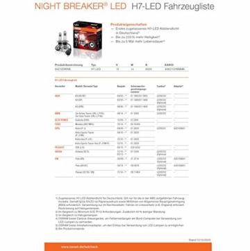 OSRAM NIGHT BREAKER H7-LED; bis zu 220 % mehr Helligkeit, erstes legales LED H7 Abblendlicht mit Straßenzulassung - 8