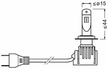 OSRAM NIGHT BREAKER H7-LED; bis zu 220 % mehr Helligkeit, erstes legales LED H7 Abblendlicht mit Straßenzulassung - 10