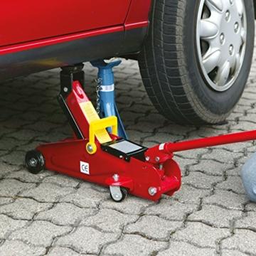Cartrend 7740014 Hydraulischer Rangierwagenheber, 2 T Tragkraft, für Werkstatt und Hobby, gefertigt aus Qualitätsstahl - 3