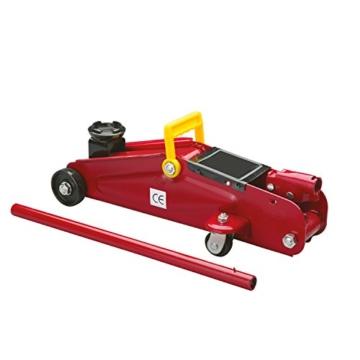 Cartrend 7740014 Hydraulischer Rangierwagenheber, 2 T Tragkraft, für Werkstatt und Hobby, gefertigt aus Qualitätsstahl - 1