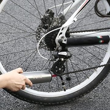 GHB Mini Auto-Luftpumpe Elektrischer Luftverdichter für Fahrrad Ball Ballon 150 PSI Portabel Aufladbar mit LCD-Display (Verpackung MEHRWEG) - 6