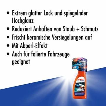 SONAX XTREME Ceramic QuickDetailer (750 ml) superschnelle Lackpflege mit Ceramic-Technologie für ein perfektes Lackfinish. Sorgt für eine extreme Glätte des Lacks | Art-Nr. 02684000 - 2