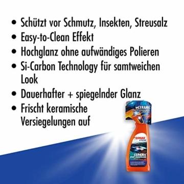SONAX XTREME Ceramic SprayVersiegelung (750ml) überzieht den Lack mit einer Schutzbarriere. Schützt vor Schmutz & Insekten. DIE Auto Keramikversiegelung schlecht hin |Art-Nr 02574000 - 5
